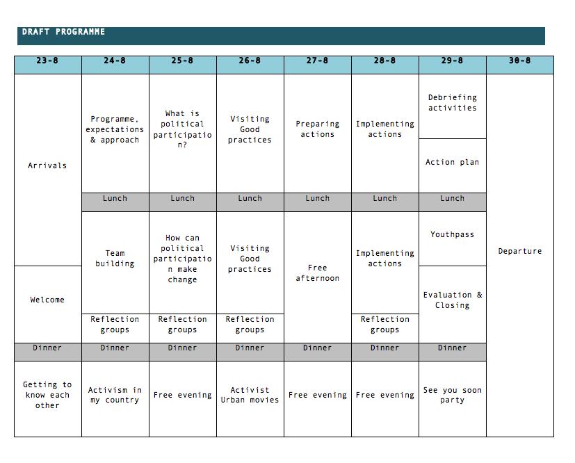 horario curso formacion belgica