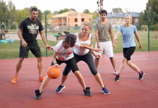 Marta en el curso sobre deportes en Lituania