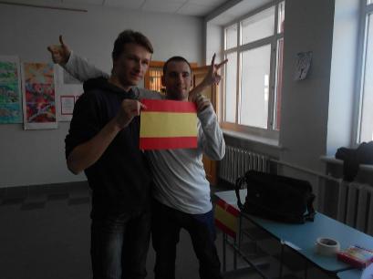 ...y clases sobre España a calor de los radiadores.