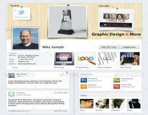 cv como facebook