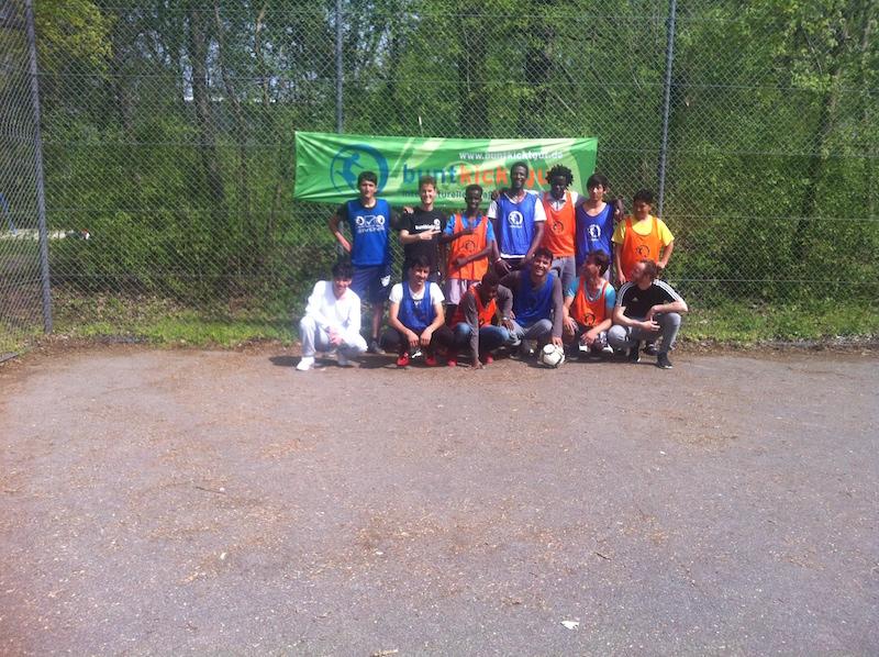 Álvaro en proyecto voluntariado sobre fútbol en Alemania