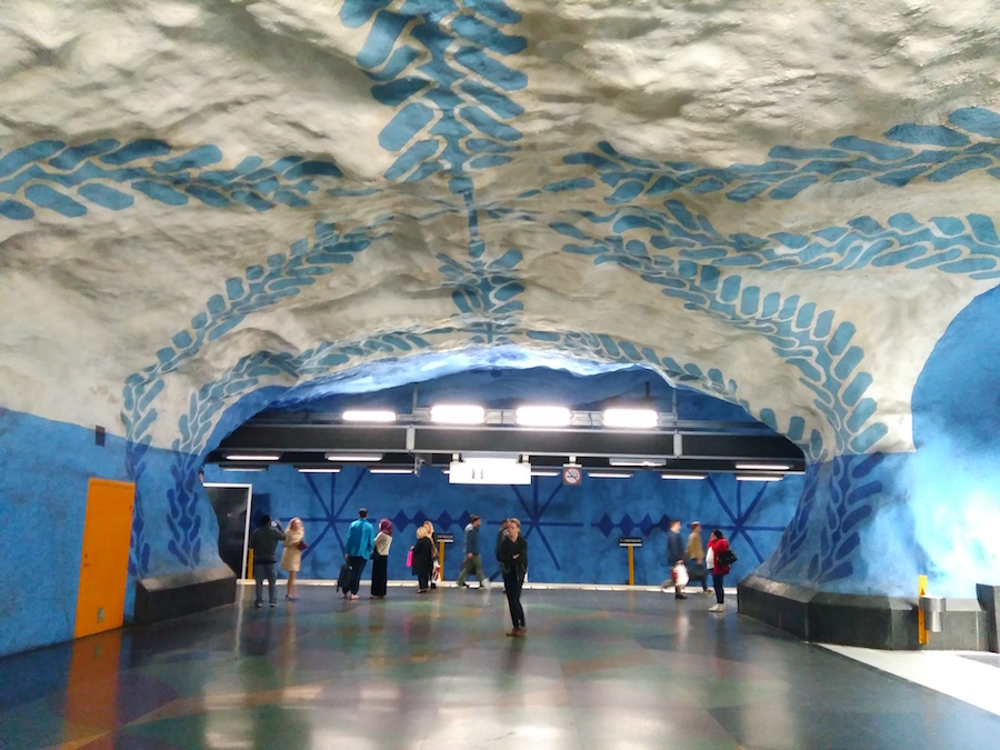 Estacion de metro de Estocolmo