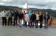 Patricia en la visita preparatoria del intercambio juvenil Erasmus+ en Portugal