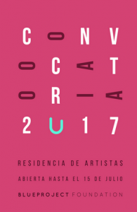 Residencia de artistas 2017, Blueproject Foundation