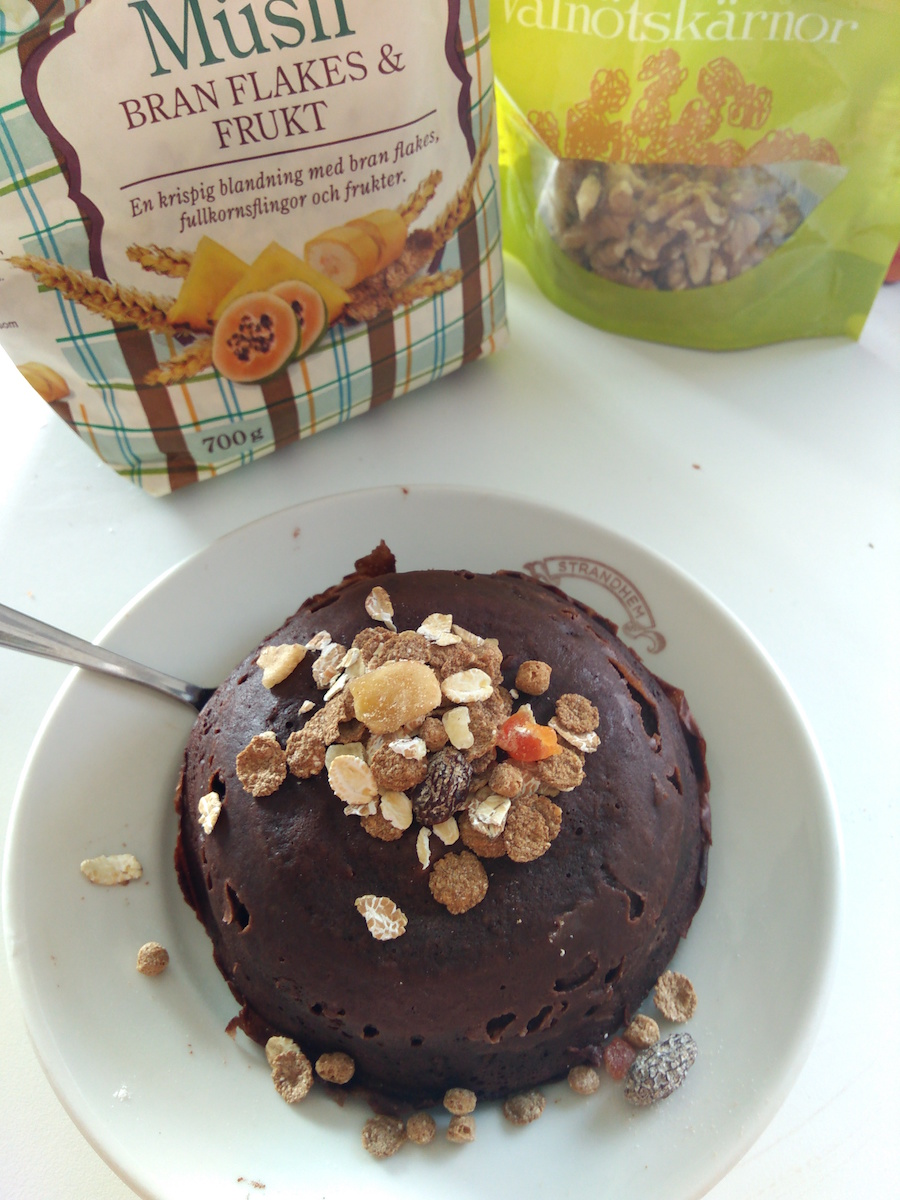 tiempo para mug cake proteico