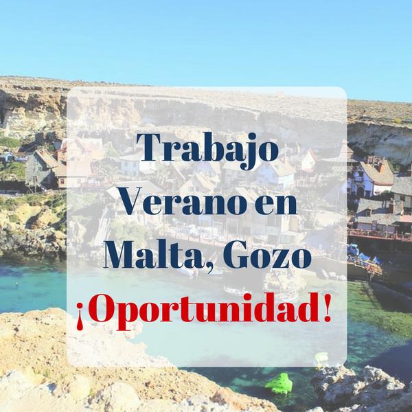 Trabajo Verano en Malta, Gozo ¡Oportunidad!