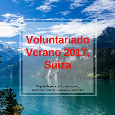 voluntariado verano 2017 suiza