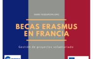 Becas Erasmus en Francia para curso sobre gestión de proyectos de voluntariado