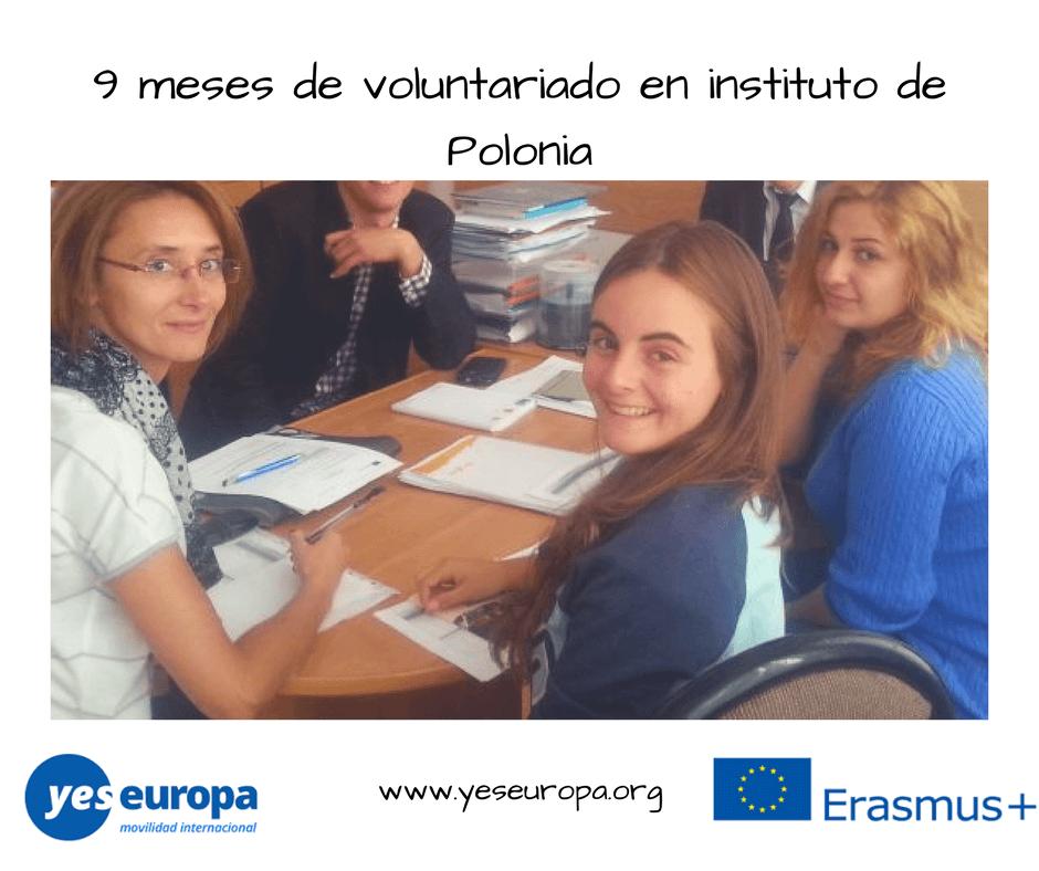 9 meses de voluntariado en instituto de Polonia