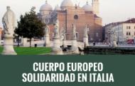 Voluntariado Cuerpo Europeo Solidaridad en Italia