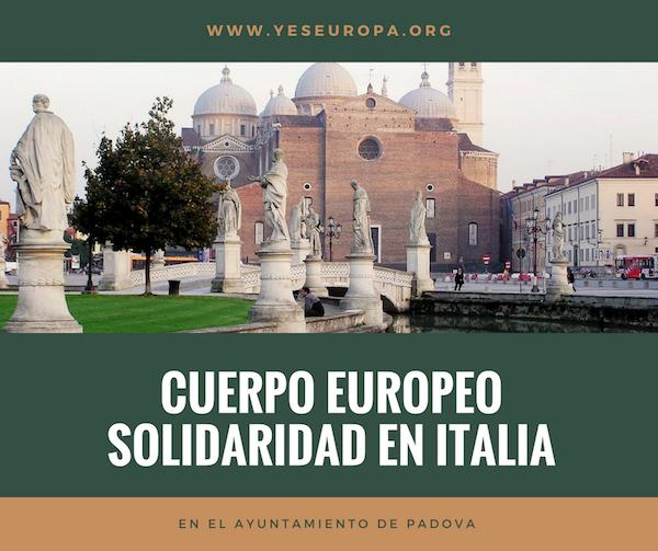 CUERPO EUROPEO SOLIDARIDAD EN ITALIA
