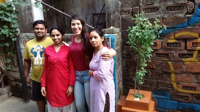 voluntariado en india con niñas