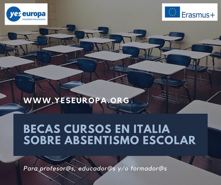 BECAS CURSOS EN ITALIA SOBRE ABSENTISMO ESCOLAR