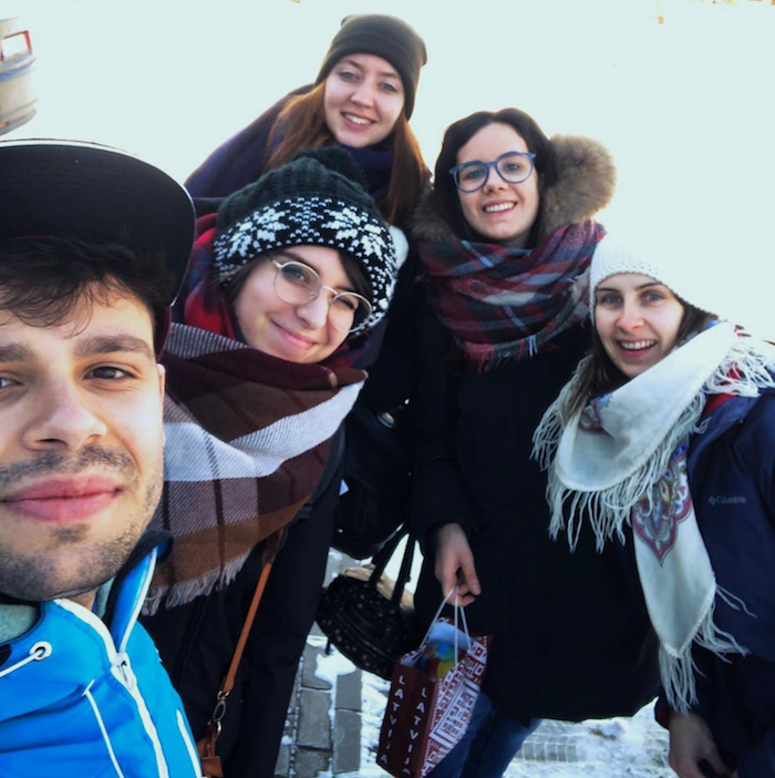 Cristina disfrutando de sus primeras semanas como voluntaria europea en Letonia
