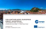 VOLUNTARIADO EUROPEO GRAZ (AUSTRIA) en asociación juvenil sobre comunicación y gestión