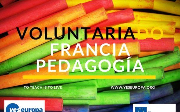 Voluntariado subvencionado Francia sobre pedagogía