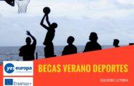 Becas verano sobre deportes y educación en Letonia