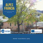 Restauración de camino antiguo en los Alpes marítimos