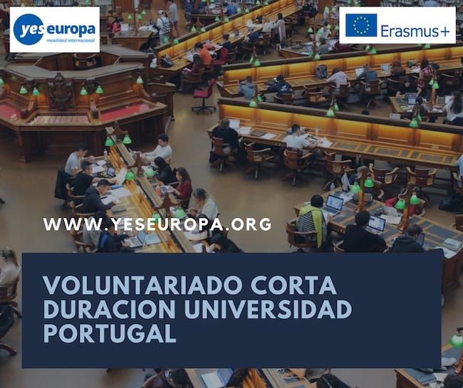 Voluntariado corta duracion universidad de Portugal