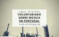 Becas voluntariado corta duración en Portugal sobre música