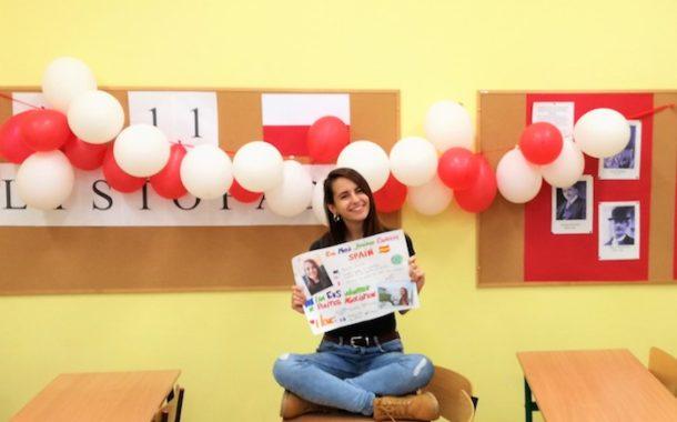 Eva explica las ventajas de su voluntariado europeo en Polonia