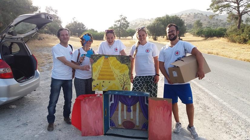 Voluntarios del proyecto Happiness en Chipre