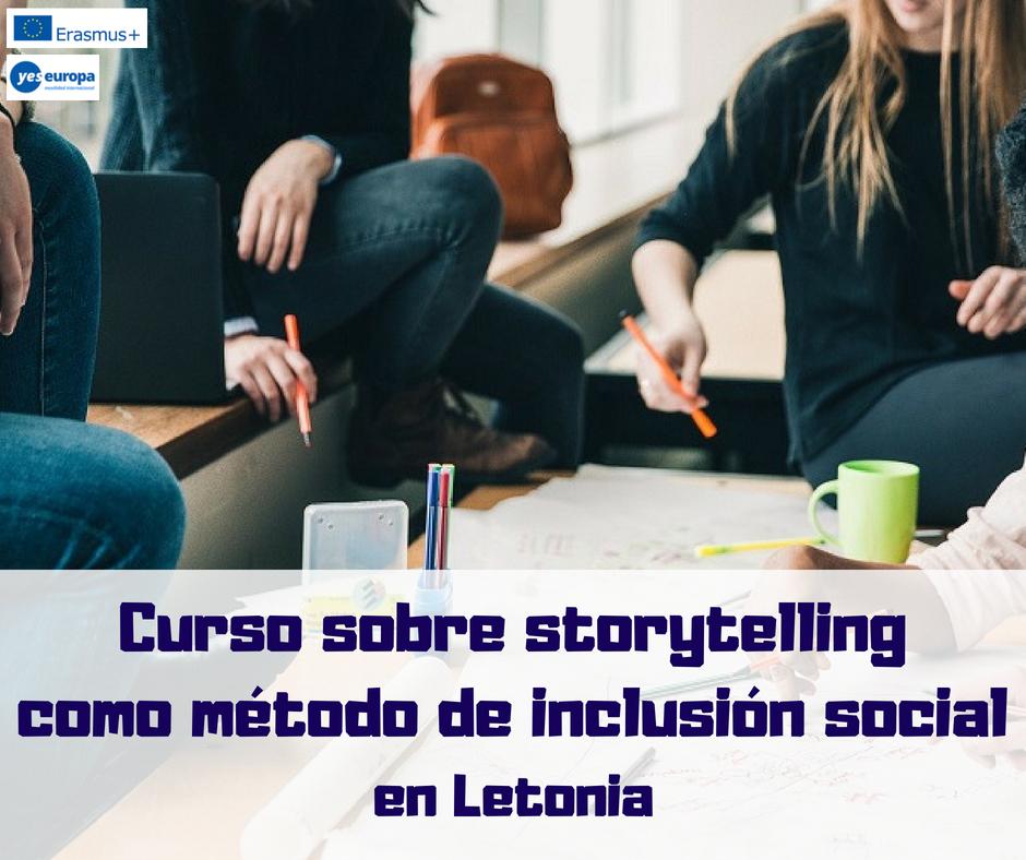 Curso sobre storytelling como método de inclusión social en Letonia