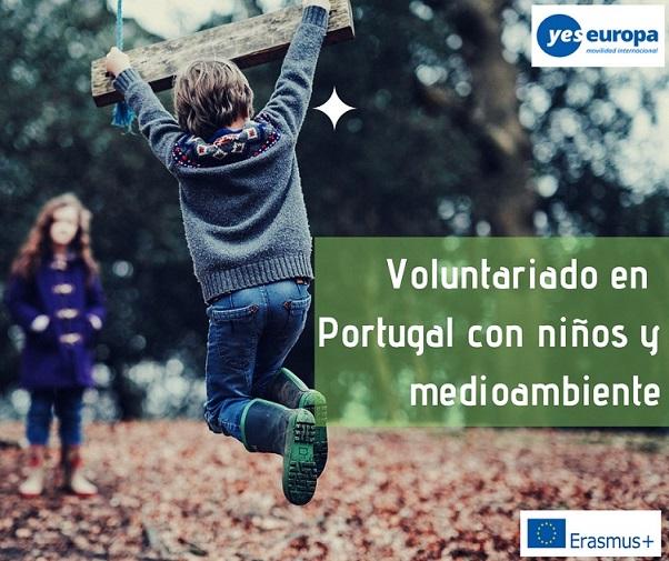 Voluntariado en Portugal con niños y medioambiente