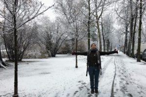 Ana ha terminado su voluntariado en un centro de arte en Austria
