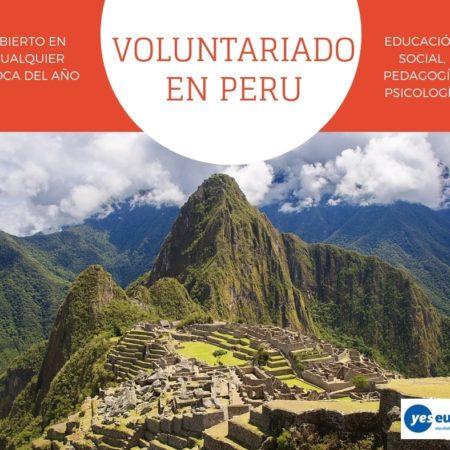 Oportunidad Voluntariado Peru en educación social