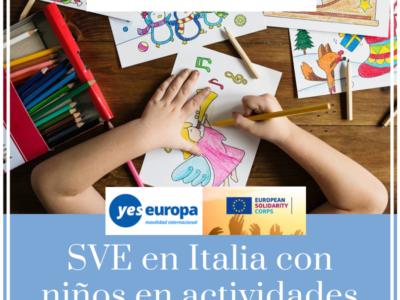 Plazas voluntariado en Italia con niños (corta duración)