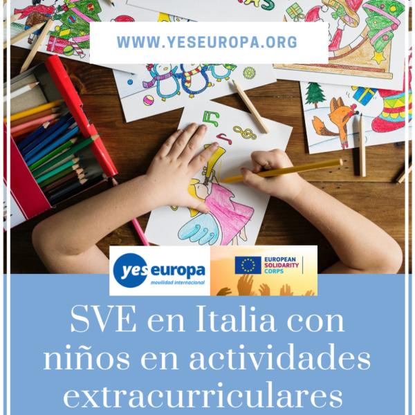 plazas voluntariado con niños en italia