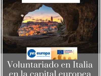 Voluntariado en cultura y juventud en Italia