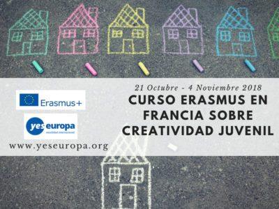 Erasmus en Francia corta duración sobre creatividad juvenil
