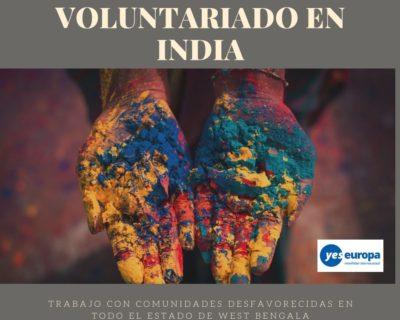 Ser Voluntario India para trabajar con niños desafortunados