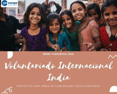 Voluntariado Internacional India en comunidades desfavorecidas