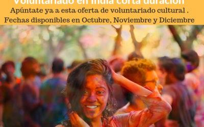 Voluntariado cultural en India en festivales