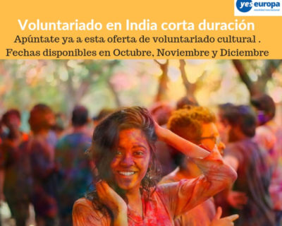 Voluntariado cultural en India en festivales