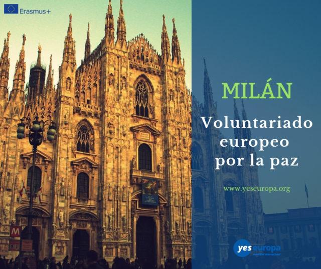 Voluntariado por la paz en Milán, Italia