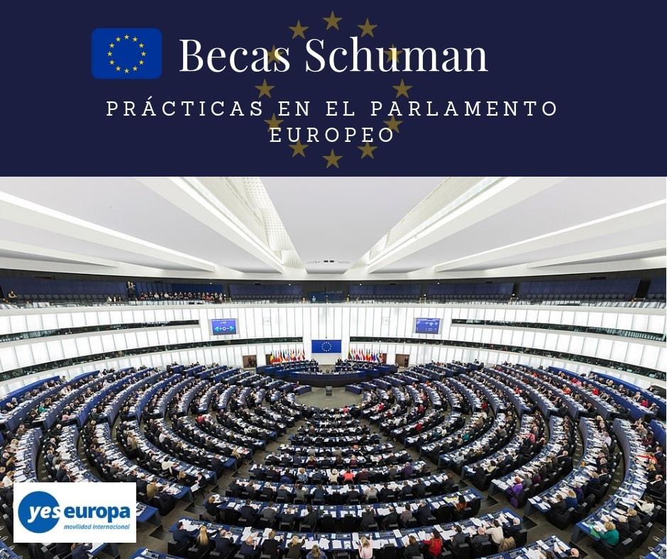 Becas Schuman para prácticas en el Parlamento Europeo