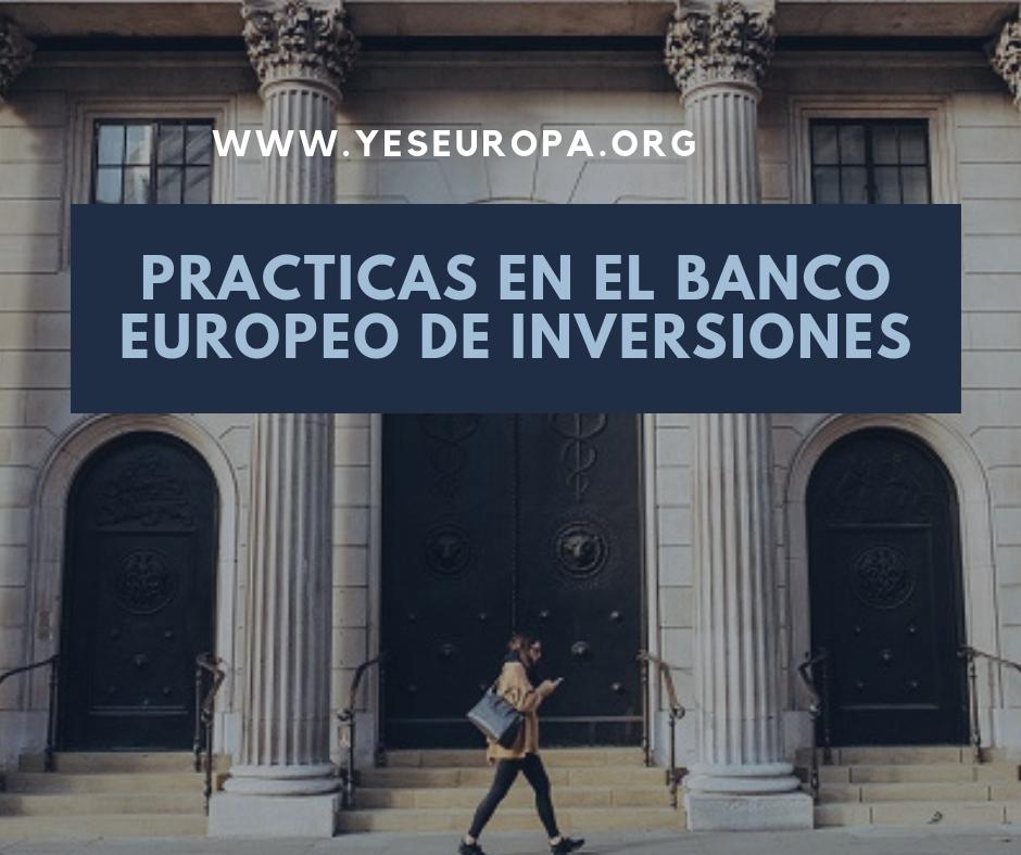 Practicas en el Banco Europeo de Inversiones