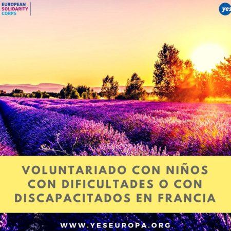 Voluntariado con niños con dificultades o con discapacitados en Francia