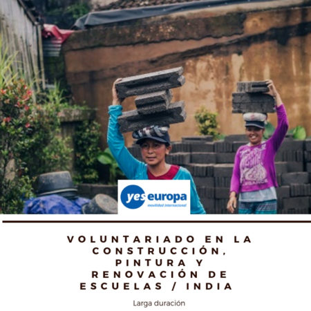 Voluntariado larga duración en India en School building