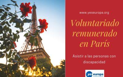 Voluntariado internacional remunerado en París (Francia) con personas discapacitadas