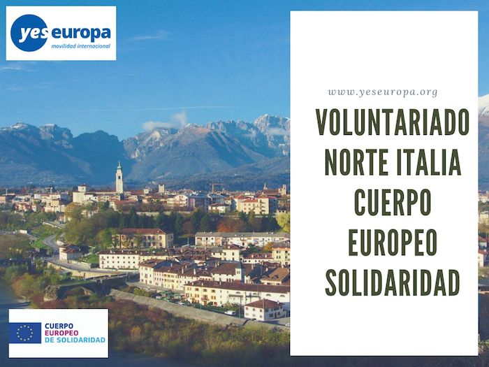 VOLUNTARIADO NORTE ITALIA CUERPO EUROPEO SOLIDARIDAD