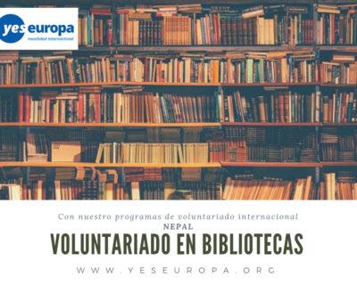 Voluntariado Nepal en bibliotecas