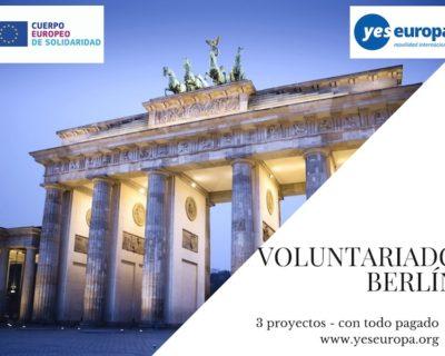 Voluntariado Berlín Alemania, en 3 proyectos