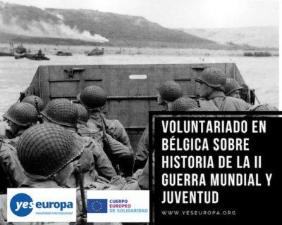 Voluntariado historiadores Bélgica sobre la II Guerra Mundial