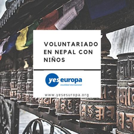 Voluntariado internacional Nepal con niños