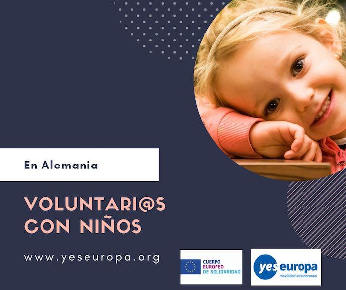 voluntarios con niños